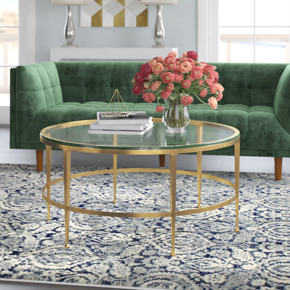 Willa Arlo Interiors Coldale Coffee Table Reviews Wayfair Coffee Table Decorating Coffee Tables Round Rug Living Room [ 1000 x 1000 Pixel ]