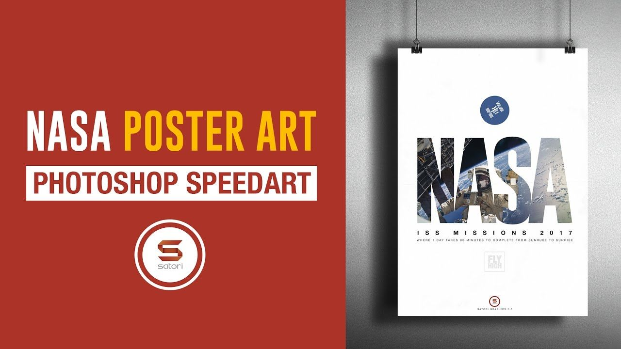 Poster design mockup - Nasa Iss Poster Design In Photoshop Photoshop Nasa Poster Mockup