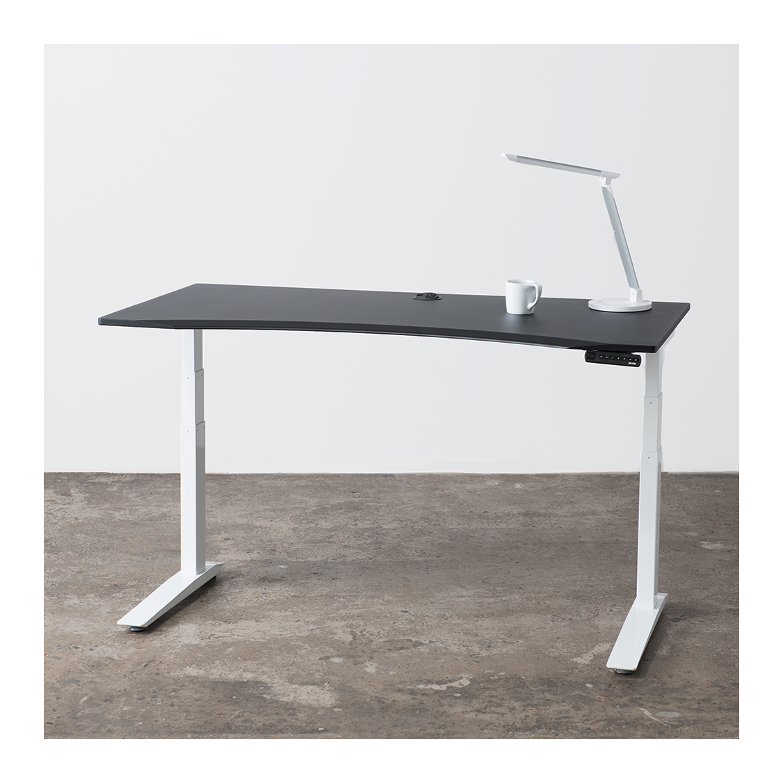 White Adjustable Height Desk Home Ideas