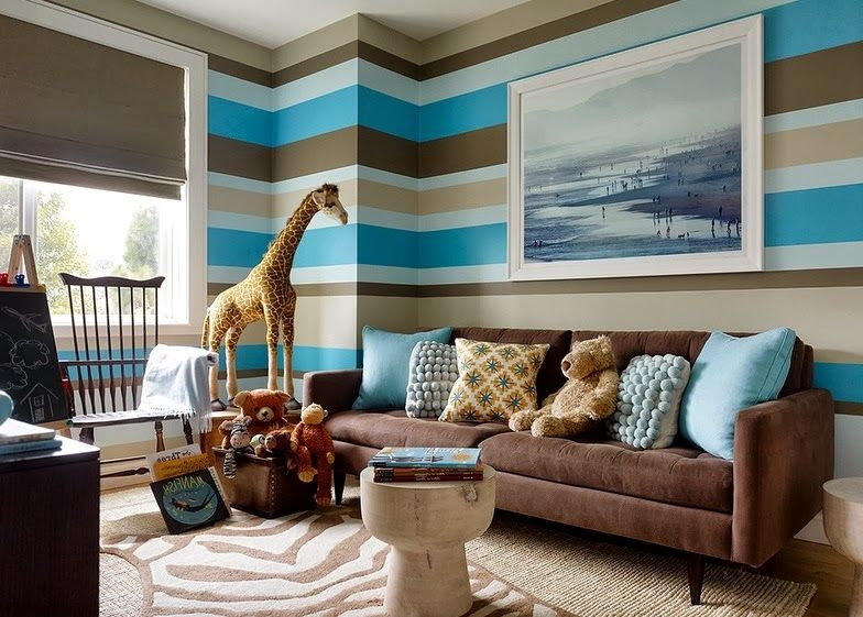 "Képtalálat A Következőre ""Paint Strip Wall Decoration For Fair Brown And Turquoise Living Room 2018"