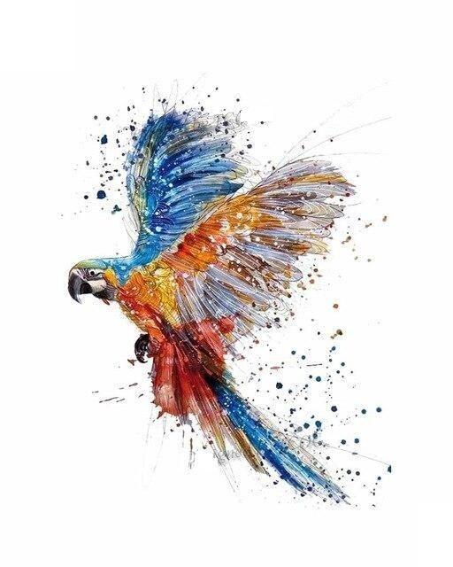 Henna Tattoo Für Jungs: Papagei 60x98mm (mit Bildern)