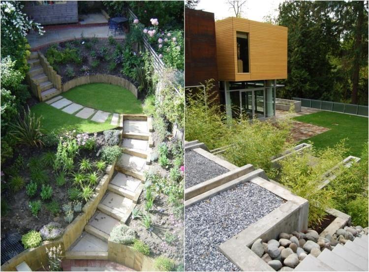 Am nager son jardin en pente conseils pratiques et for Amenager son jardin a partir d une photo