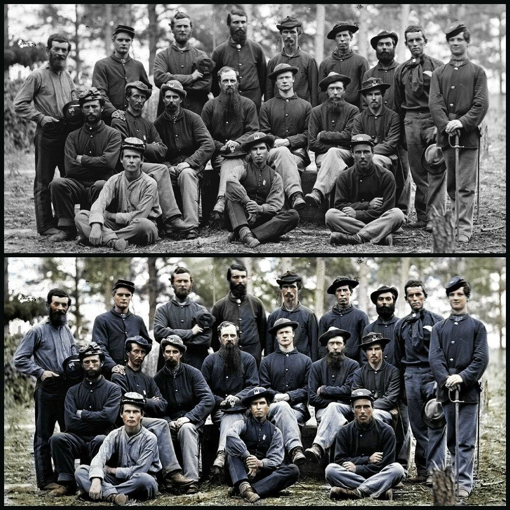 civil war color added civil wars civil war art and