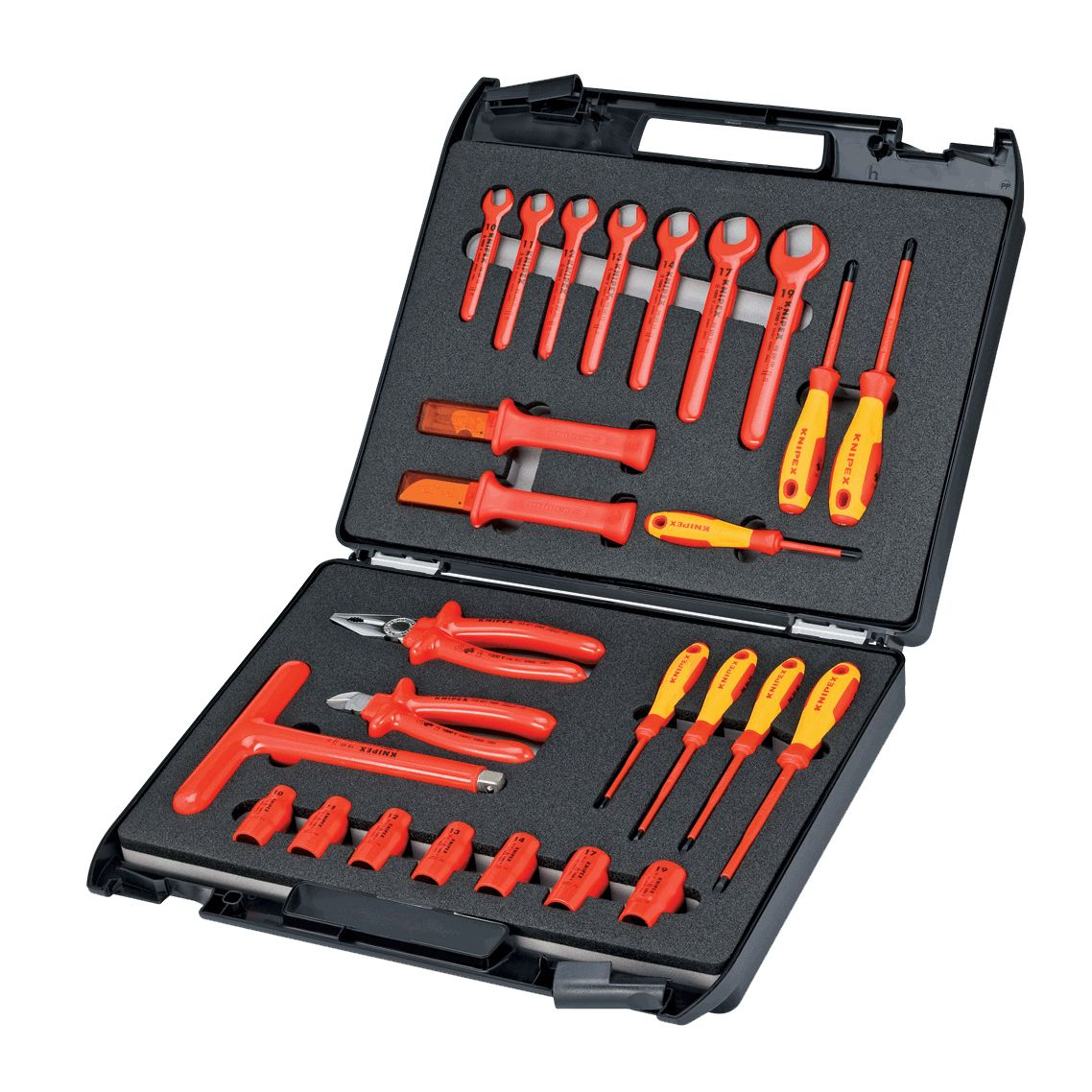 Knipex 98 99 12 26 Pc Standard Tool Kit 1 000v Insulated In Case Tool Kit Tools Tool Storage