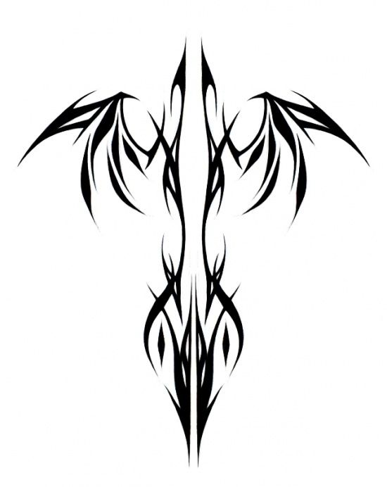 Tribal Phoenix Linear Add Some Color And It D Be Perfect Random