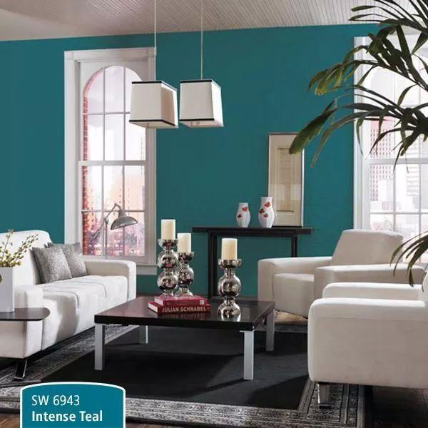 Sw6943 Intense Teal Teal Living Rooms Boho Living Room Decor Boho Living Room