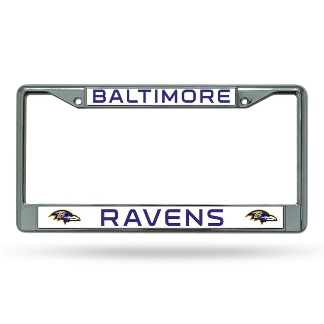 Baltimore Ravens Chrome License Plate Frame | Matrículas, Baltimore ...