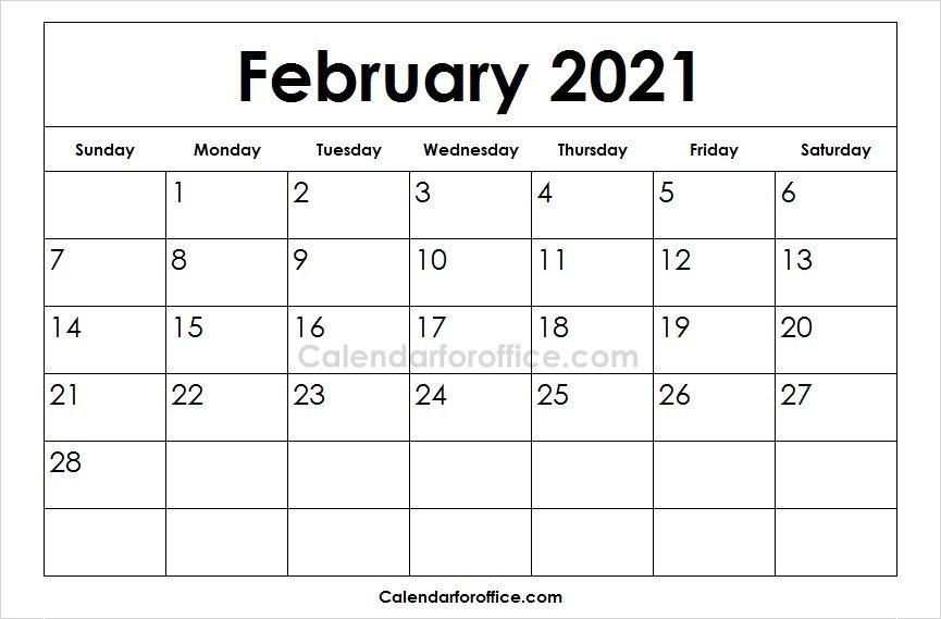 Blank 2021 February Calendar Images May Calendar Printable