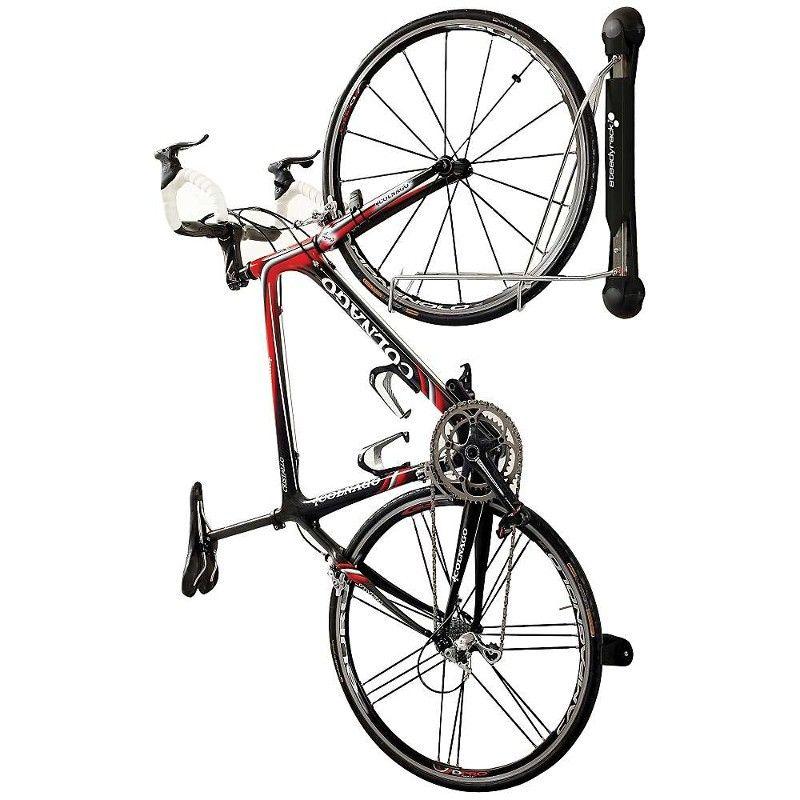 Steadyrack Wall Mounted Folding Bike Rack Black