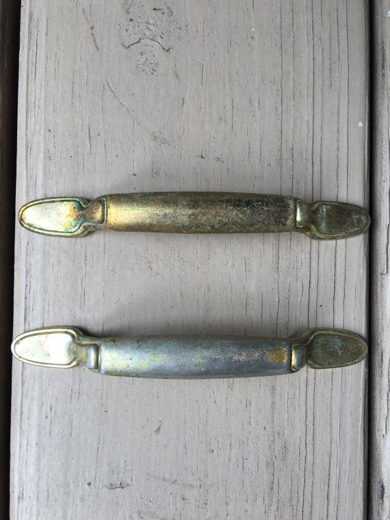 Vintage Goldtone Drawer Pulls Brass Replacement By Myvintagealcove