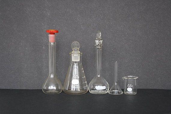 Laboratory Equipment Lab Glassware By Happyfortunevintage Lab