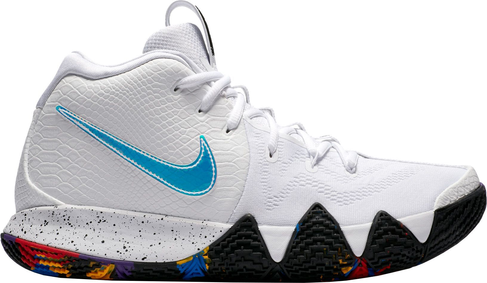 official photos d4b67 b28fe Nike Men's Kyrie 4 Basketball Shoes, Size: 12.0, White ...