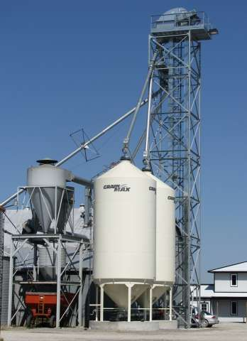 SMOOTH WALL BULK SEED BINS FOR SOYBEAN SEED PRODUCTION FACILITY - BUILT BY DEVOLDER FARMS