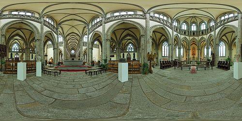 Chœur de l'église Notre-Dame-des-Champs d'Avranches  - France © Pascal Moulin
