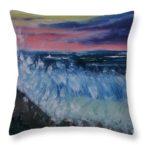 Huakai Pos Opihikao Surge 4 Throw Pillow by Lynn Michelle. Our throw pillows are made from 100% spun polyester poplin fabric and add a stylish statement to any room. Pillows are available in sizes from 14