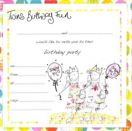 free printable birthday invitations for twins