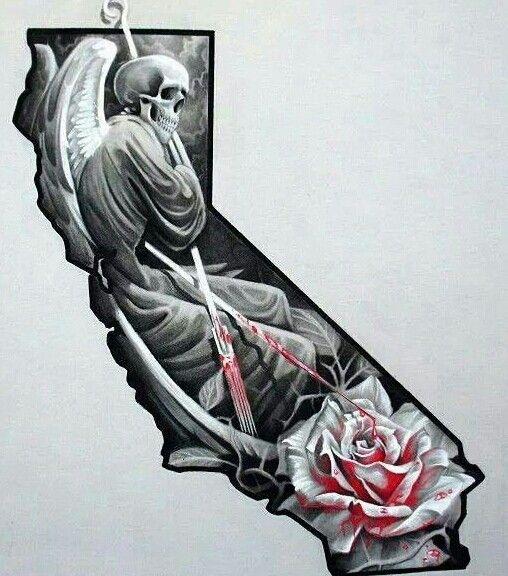California death angel tacas tattoos pinterest for Designers art of california