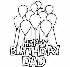 Happy Birthday Dad Coloring Pages Pdf Sducartelca