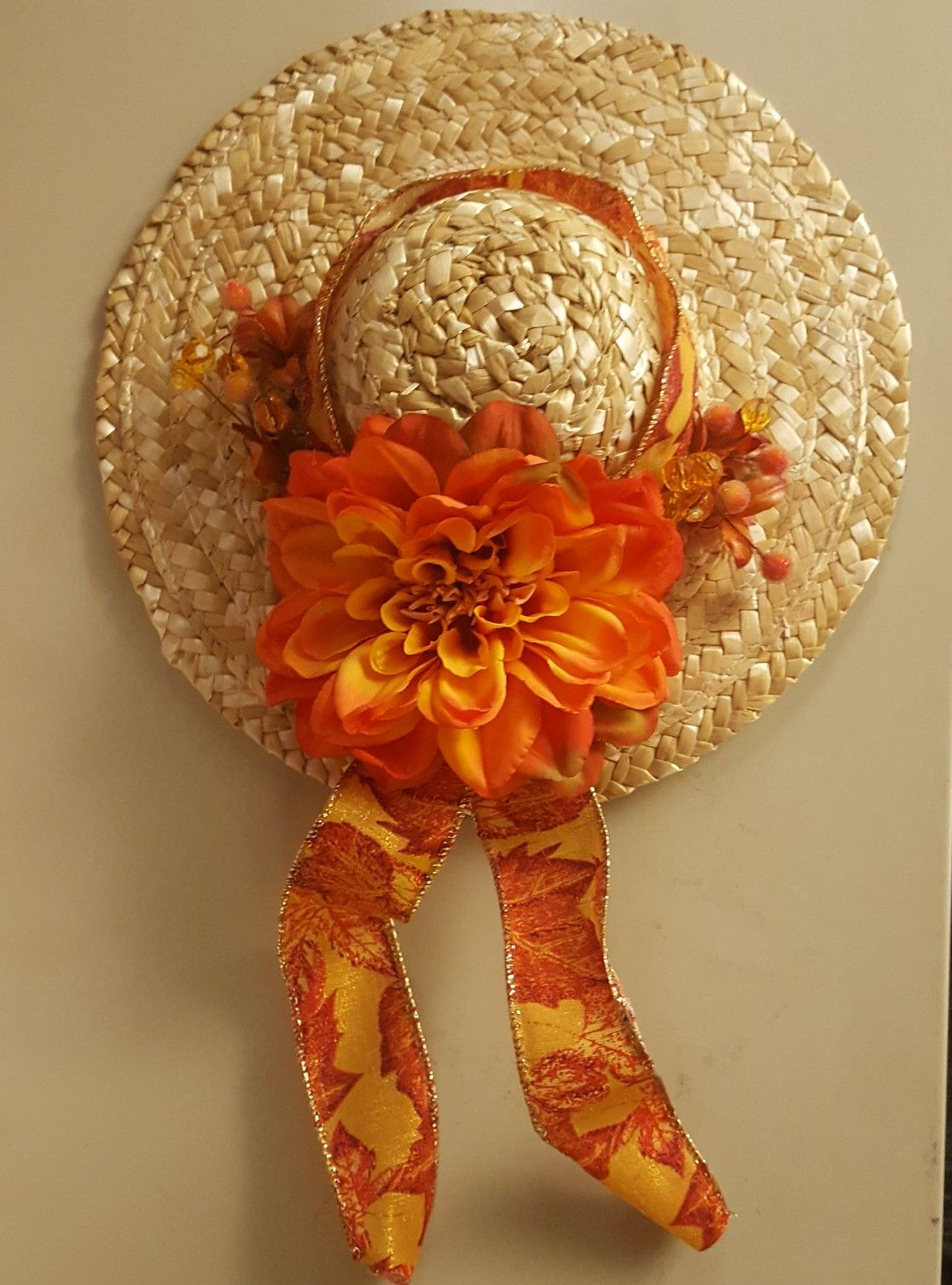 small fall flower hat