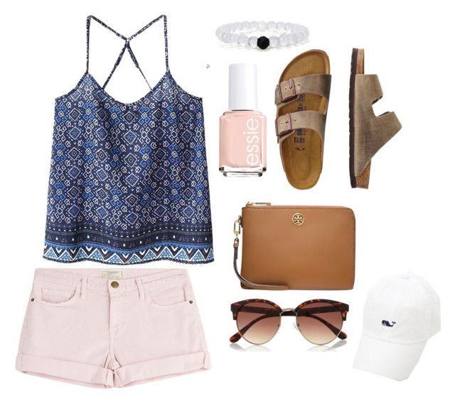 """bit boreddd"" by mbeltrand on Polyvore featuring Current/Elliott, WithChic, TravelSmith, Tory Burch, River Island and Essie"