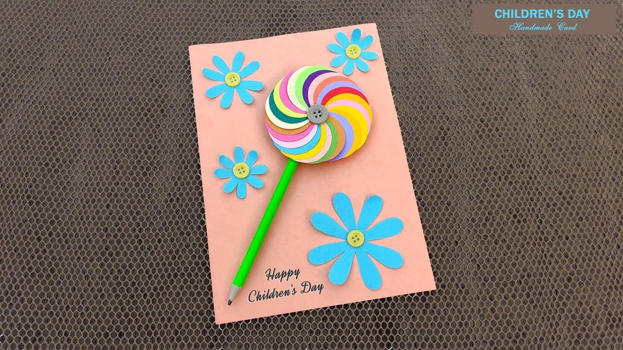 Children S Special Greeting Cards Idea Handmade Children Day Card Chil Greeting Cards Handmade Child Day Card Making