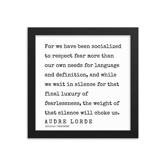 33 | Audre Lorde Quotes|  Framed Print  | 200302 | Literary Quotes