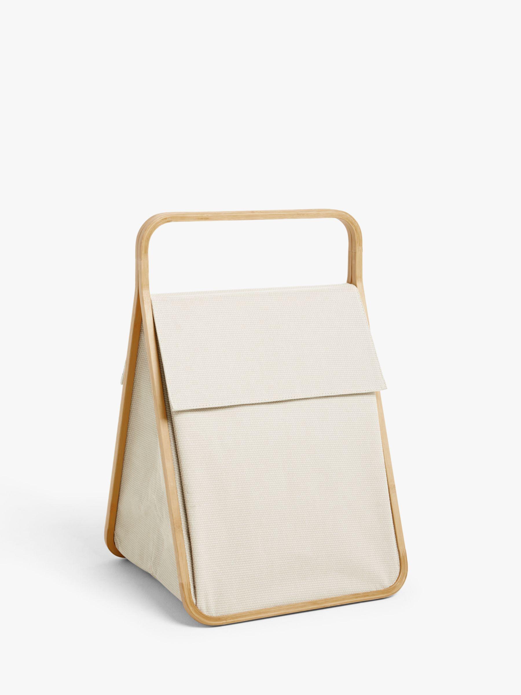 John Lewis & Partners 2 Section Folding Laundry Hamper