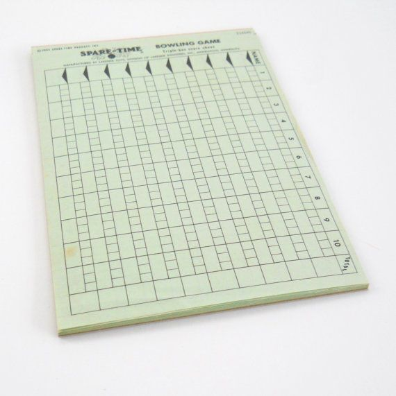 Vintage Spare Time Bowling Game Score Sheets   Vintage
