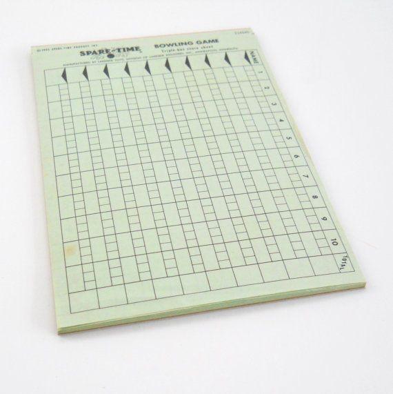 Vintage Spare Time Bowling Game Score Sheets   Vintage