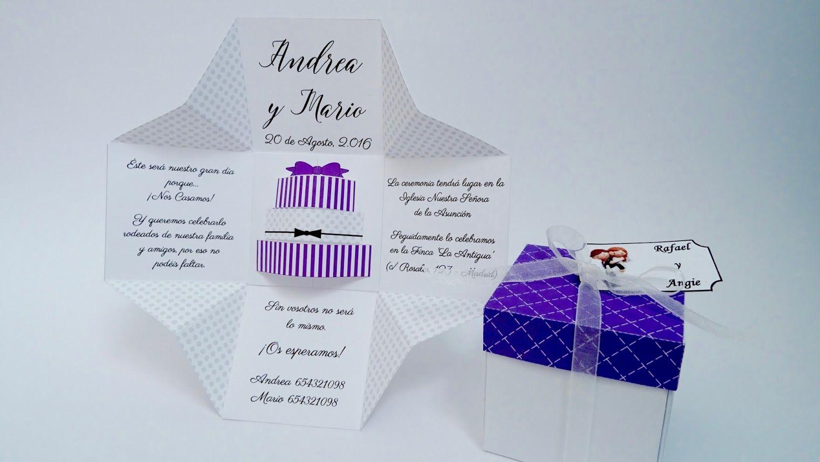 Scraparizate: INVITACIÓN CON CAJA #2 - TARTA 3D | scrap | Pinterest ...