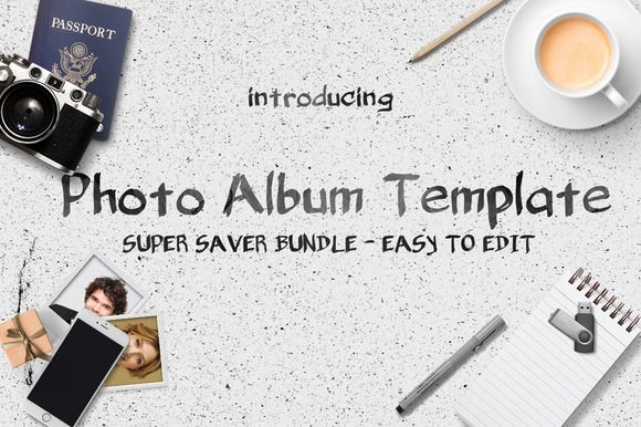 Photo Album Template Bundle by voryu on @creativework247