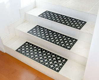 Stars Rubber Stair Treads Rubber Flooring Black Stairs