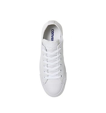 White Mono Leather Converse All Star Low From Office Co Uk
