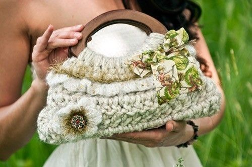 Small Spring Ruffle Purse Crochet Pattern PDF por JackieMoon