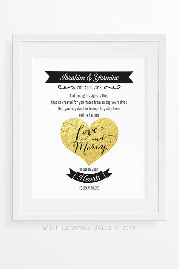 Islamic Wedding Gift Quran Quote Printable Islamic Wedding Quotes Wedding Quotes Printable Islamic Wedding