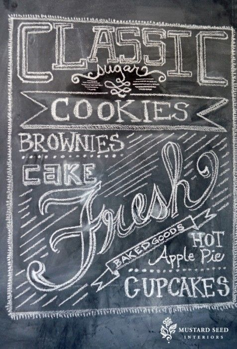 Chalkboard Chalk Board Ideas Pinterest Pintura de pizarron - paredes con letras