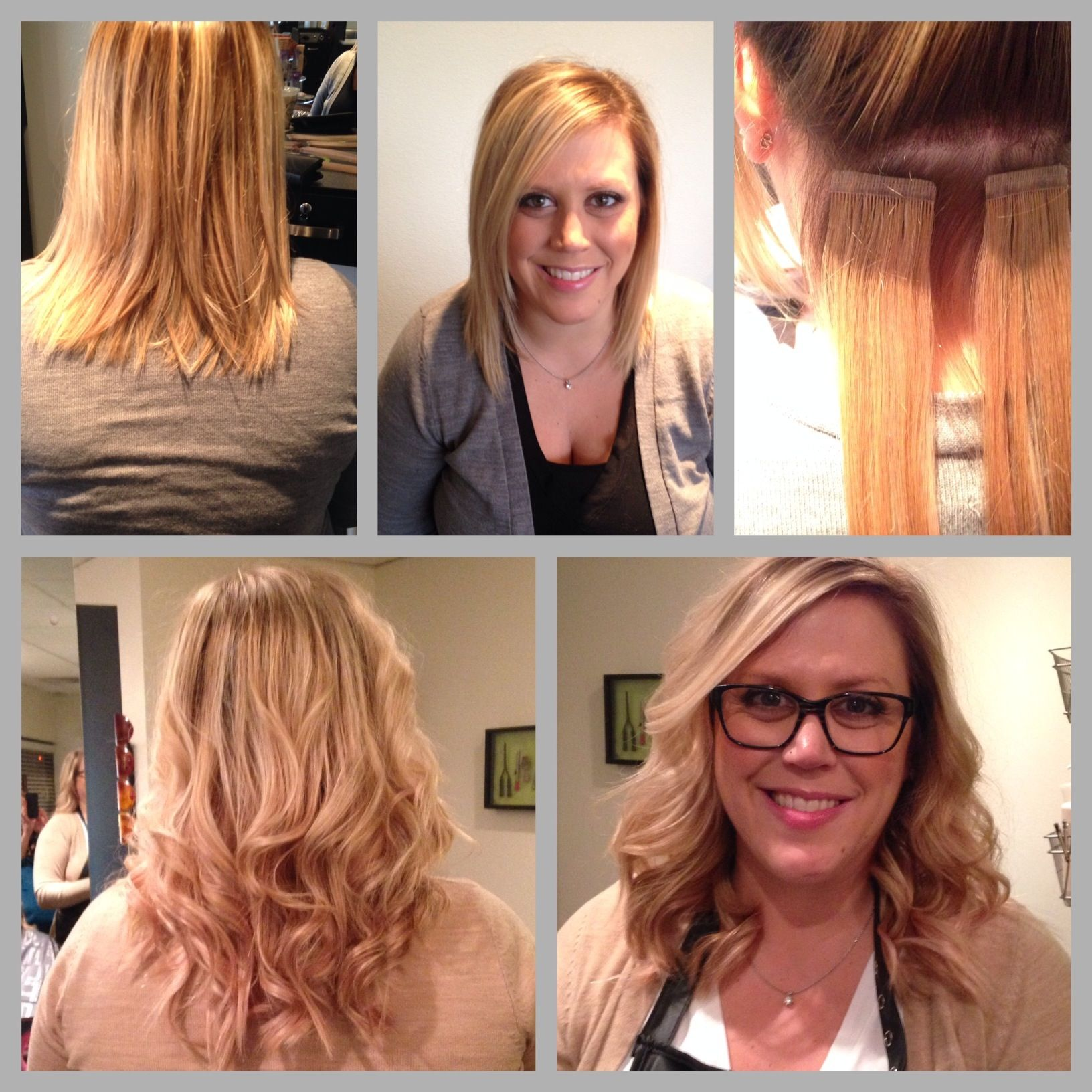 Hair Extensions Before And After To Add A Bit Of Length And Lots Of
