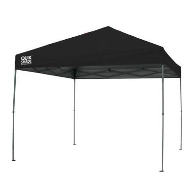 Quik Shade Expedition 10 Ft X 10 Ft Black Instant Canopy 158997 The Home Depot Instant Canopy Canopy Pop Up Canopy Tent