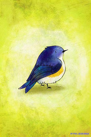 Iphone Ipod Touch Wallpaper 010 Pintura De Pajaros Pajaro De Acuarela Pinturas De Aves