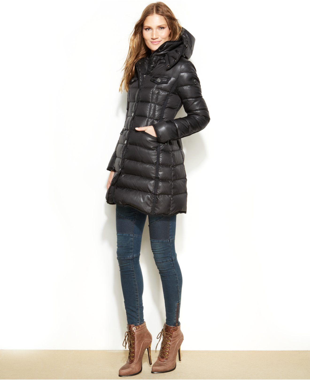 Vince Camuto Hooded Quilted Puffer Coat - Coats - Women - Macy's ...