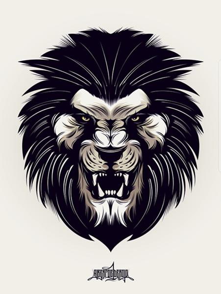 Para Esta Ilustracion Busque Dibujar Un Leon Que No Tuviese Un Aspecto De Tranquilidad Acoplandole Tambien Con El Tipo Lion Images Lion Illustration Lion Art
