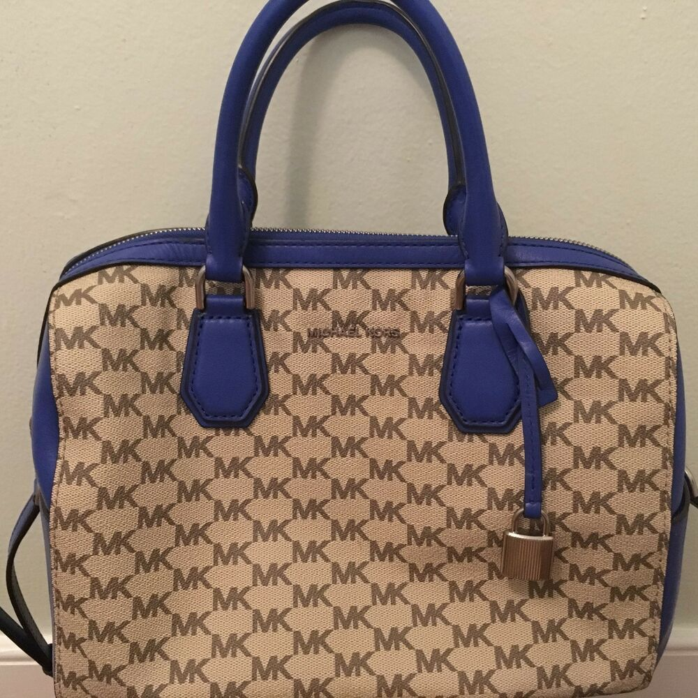 New MICHAEL KORS MD Mercer studio collection Mk Logo DUFFLE in Electric  Blue  fashion  clothing  shoes  accessories  womensbagshandbags (ebay link) 3e77a669fc220