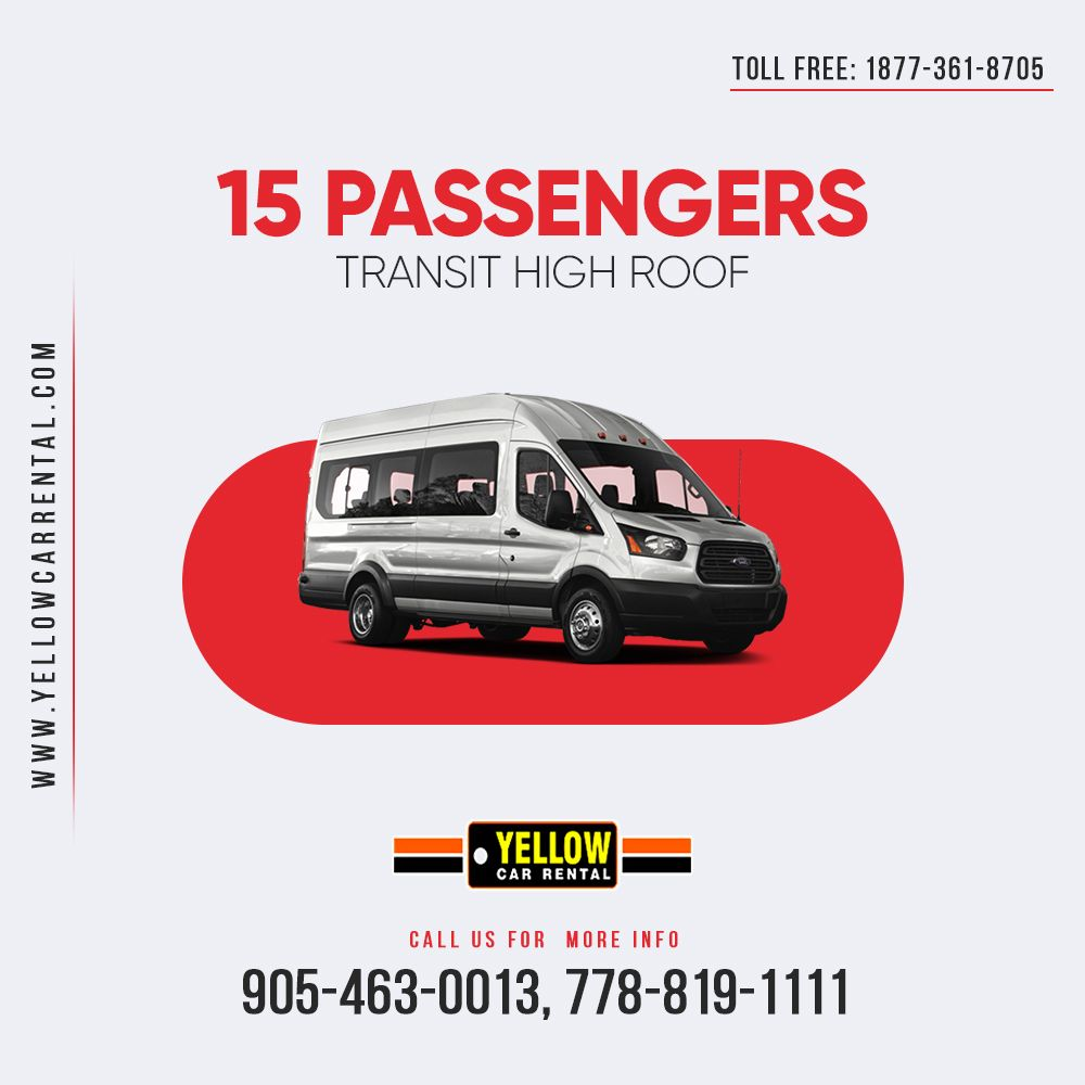 Do you need a spacious van in Canada? Rent our 15