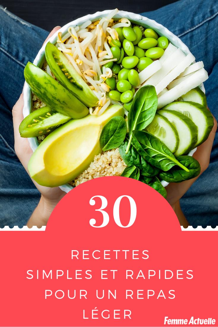 Repas léger : 30 idées de recettes simples et rapides   Idée repas léger, Recette simple et ...