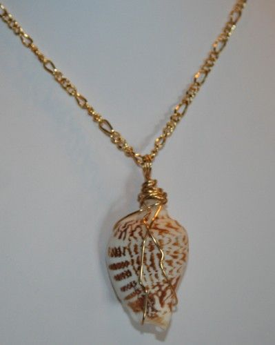 Wire wrapped sea shell pendant necklace shell jewelry shell sea shell jewelry necklaces wire wrapped sea shell pendant necklace aloadofball Gallery