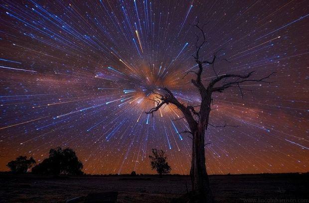 Lincoln Harrison 爆发的星空 (风光 星空 摄影 创意 Lincoln Harrison )