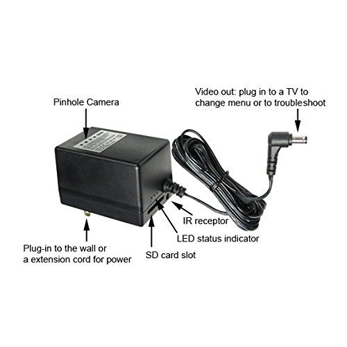 Power Adapter Dvr Pinhole Hidden Spy Camera 64gb Continue To The Product At The Image Link This Is An Home Security Systems Hidden Spy Camera Home Gadgets