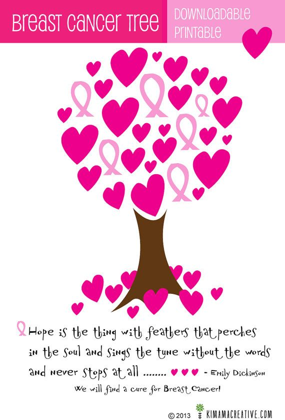 Cancer Tree with Quote Downloadable Printable by KimamaCreative
