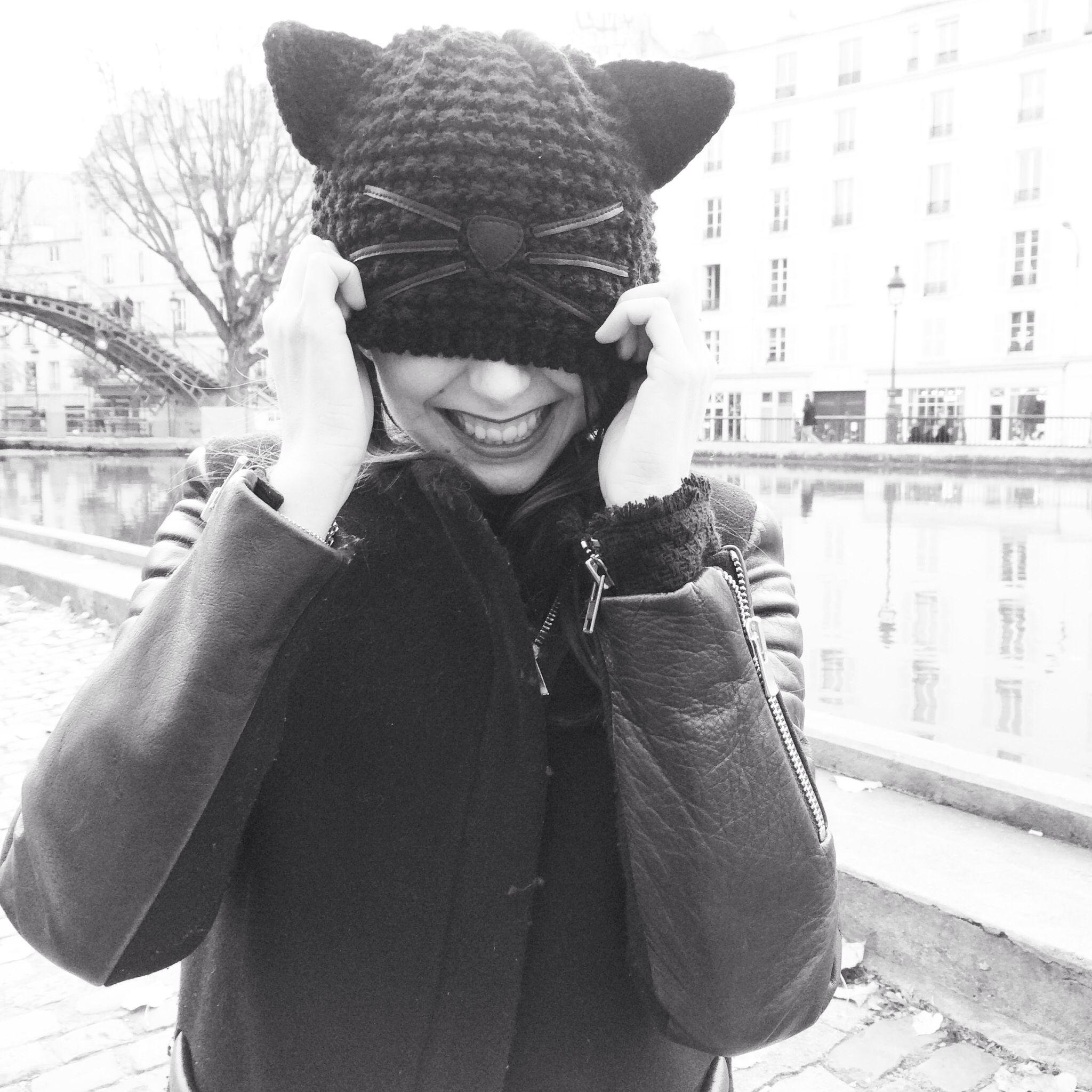 Choupette glitter beanie - Black Karl Lagerfeld DSJX8