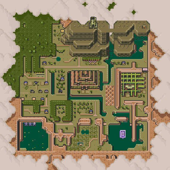 Hyrule Dark World Map Cross Stitch Pattern Products Cross Stitch